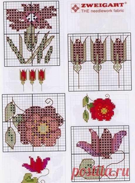 101 Цветка мини (вышивки)