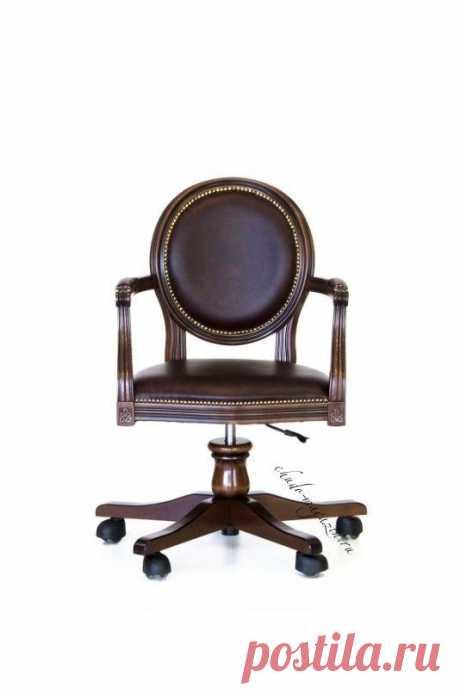 Кресло кожаное с круглой спинкой на колесиках Луиз-2 К-59: в наличие, заказ, доставка