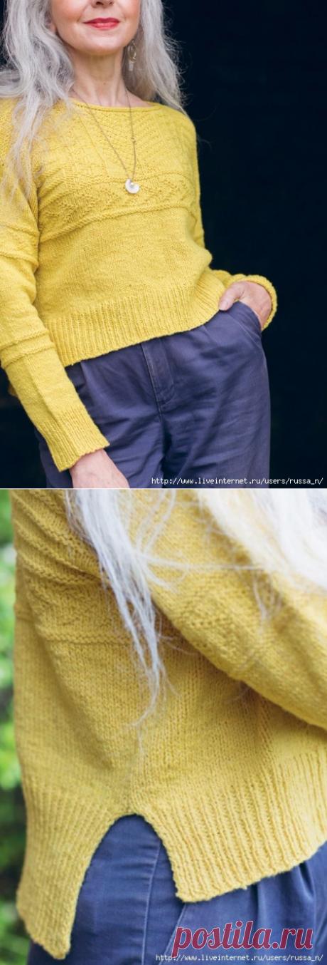 """Пуловер с удлиненной спинкой """"Rocquaine"""" от Кристины Данае"""