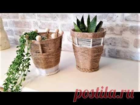 🌸🌼 КАШПО ДЛЯ ЦВЕТОВ ИЗ МУСОРА...🌸🌼DIY Wooden Planter Box...