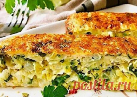 Ленивый капустник - идеальный сезонный пирог | Вкусные рецепты | Яндекс Дзен