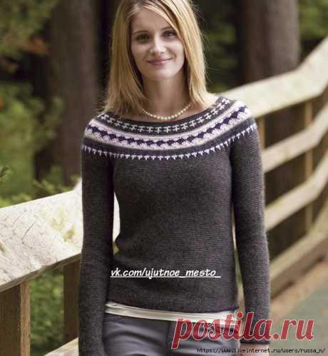Пуловер крючком Northern Dreams.