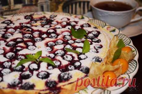Песочный пирог с творогом и смородиной - пошаговый рецепт с фото - как приготовить - ингредиенты, состав, время приготовления - Дети Mail.ru