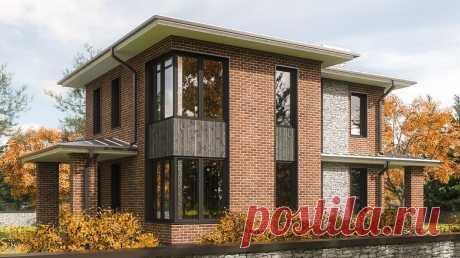 Дом в современном стиле  общая площадь 135,8м2 +терраса, крыльцо,  с планом 1 и 2 этажей.