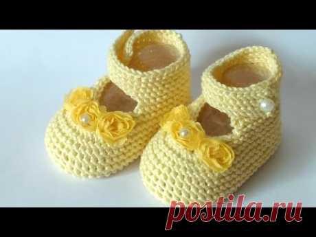 🧶 Как сделать вязание туфлей быстро и легко