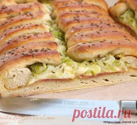 Деревенский хлеб-пирог с вкуснющей начинкой
