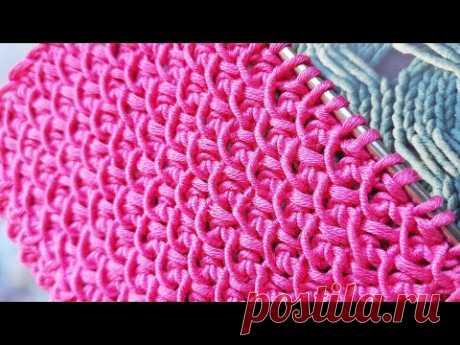 Идеальный и идейный фоновый узор спицами🤩 knitting pattern.