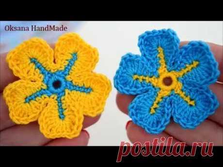Маленькие цветы крючком. Мастер класс. Small crochet flowers