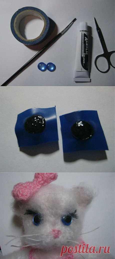 Глазки для игрушек за 15 минут - Ярмарка Мастеров - ручная работа, handmade