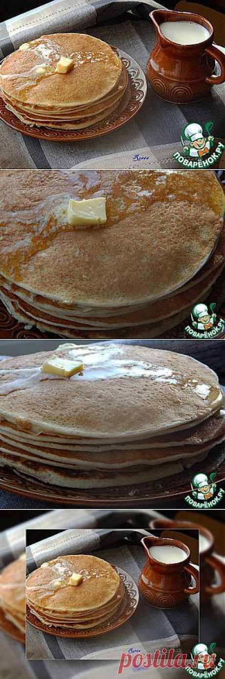 Блины ржаные на кефире и воде - кулинарный рецепт