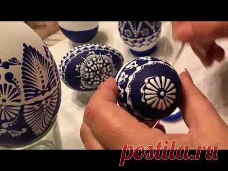 How to paint Easter eggs pysanky with acrylics #1