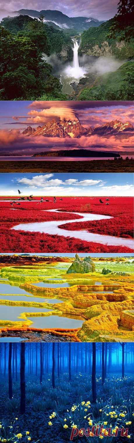 самые красивые места планеты.Путешествовать — необходимо». Самые красочные и вдохновляющие уголки Земли. Когда смотришь на них, с одинаковой силой хочется и жить, и путешествовать.