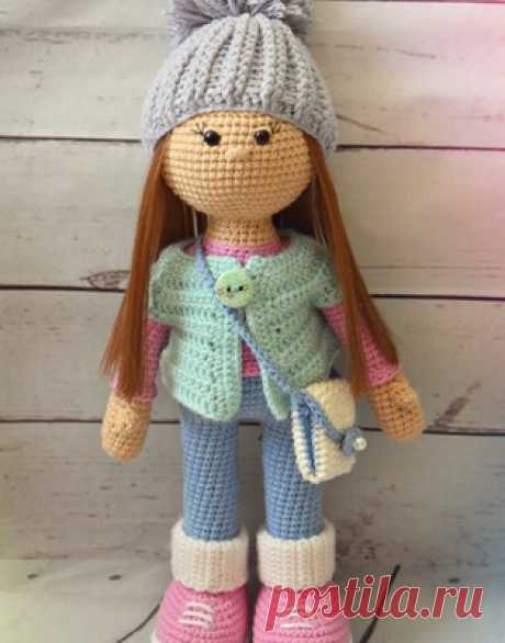 Стеша амигуруми. Схемы и описания для вязания игрушек крючком! #кукла #куколка