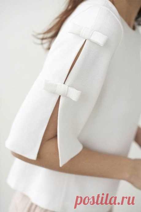 Интересные рукава. Необычно, красиво Варианты необычных рукавов. Советы как раздвинуть базовую выкройку рукава: Источник