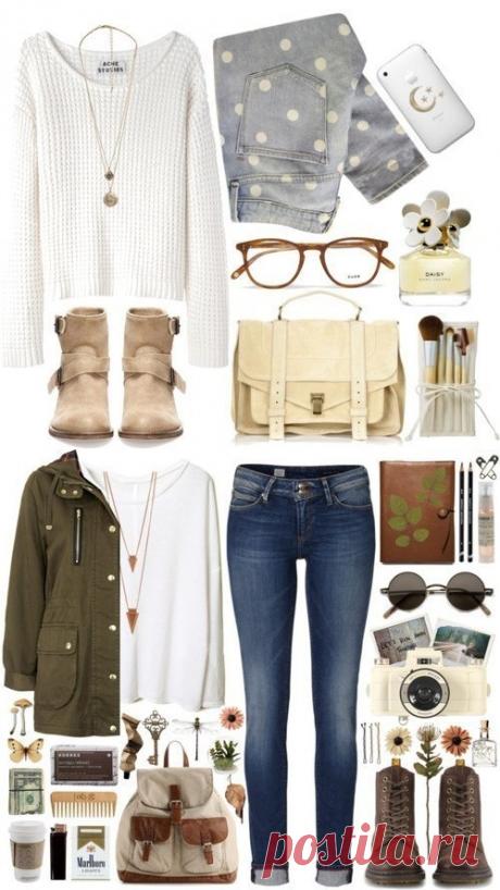 Готовые стильные сочетания модных вещей.