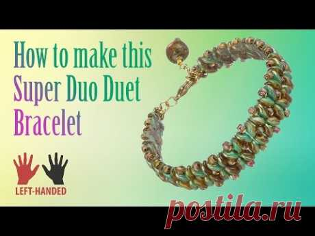 Left-Handed ★ How to make this Super Duo Duet Bracelet | Seed Beads