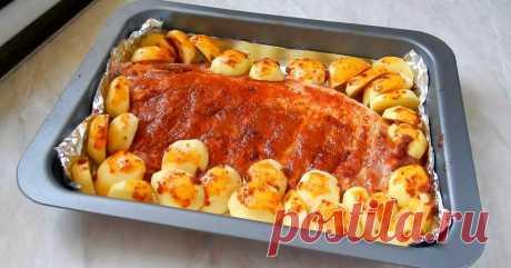 Свиные ребра с картошкой в духовке - Важно знать
