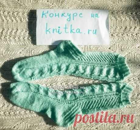 Ажурные носки – работа Инны, Работы наших читателей