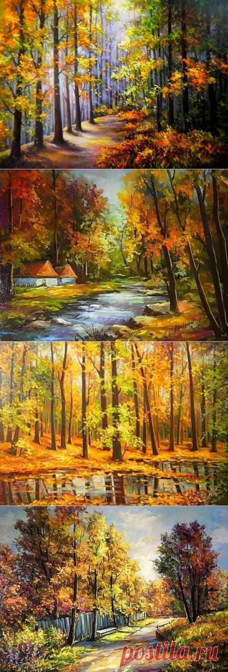 Осеннние картины от Anca Bulgary.