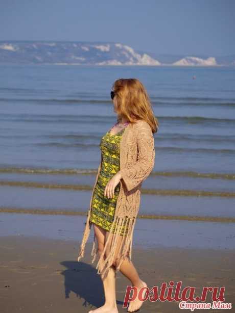 Пляжная накидка крючком - Вязание - Страна Мам