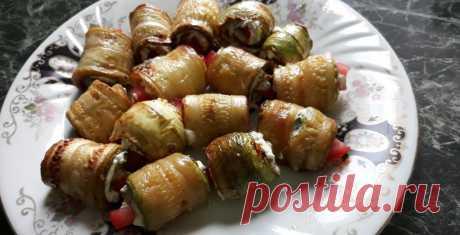 Рулеты из кабачков рецепт с фото пошагово