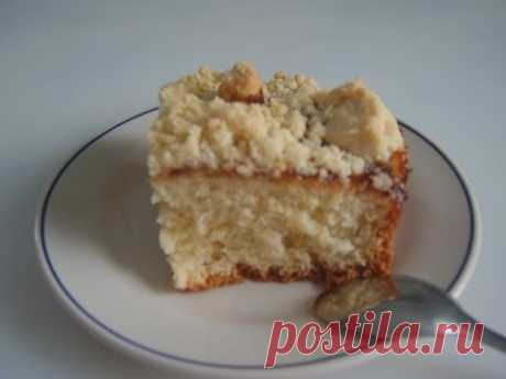 Пирог со штрoйзелем . Kuchen mit Streusel.