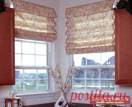 Las cortinas romanas por las manos: cosemos. Las clases maestras poshagovye de la foto