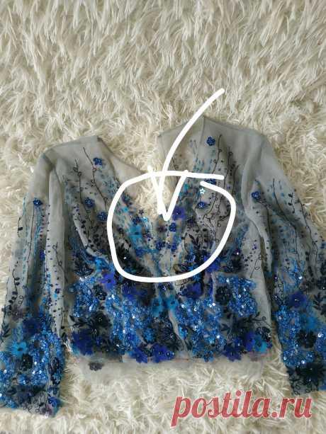 Как разрабатывается и декорируется вышивкой изделие. Разбор вечернего платья
