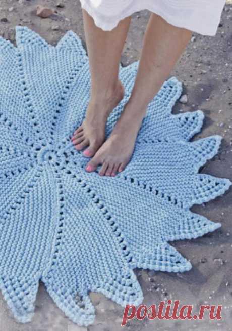 Вязание ковриков: 12 моделей спицами со схемами, описанием и видео мк для начинающих