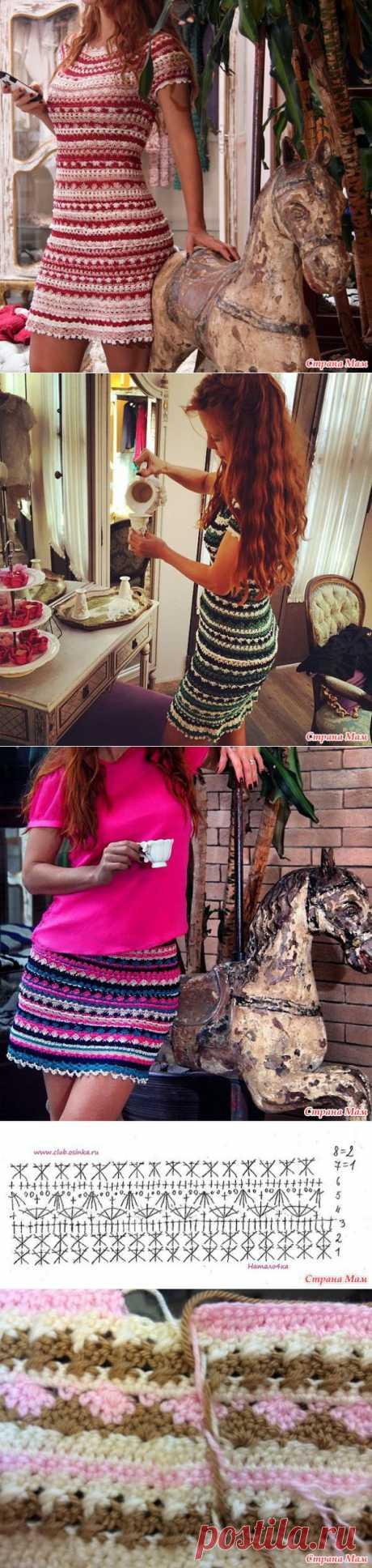 (+1) тема - Платье от Ванессы Монторо, описала вязание mari 1984 | РУКОДЕЛИЕ