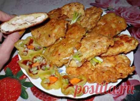 Кулинария>Куриная отбивная в картофельном кляре