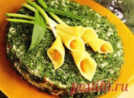 Праздничный салат «Каллы» на 8 марта – рецепт приготовления
