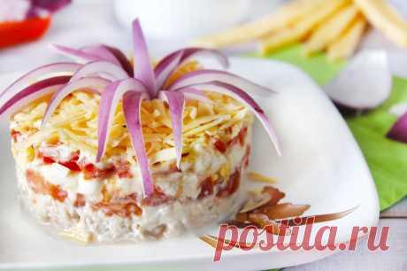 Салат Астра с курицей рецепт с фото пошагово - 1000.menu