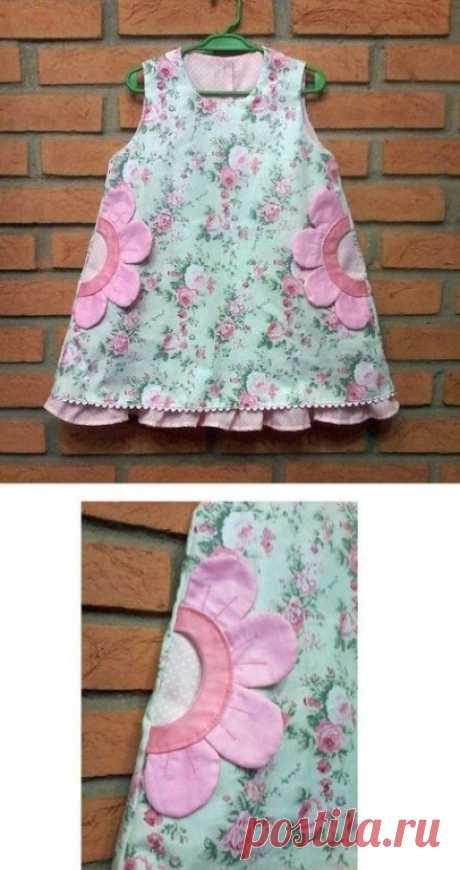 Милые кармашки для детского платья