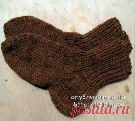 Детские носки спицами. Работа Светланы Норман,  Вязание для детей