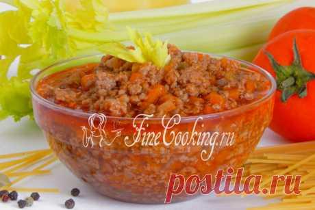 Соус Болоньезе в домашних условиях Соус Болоньезе - это мясное рагу с овощами, которое характерно для кухни Италии.