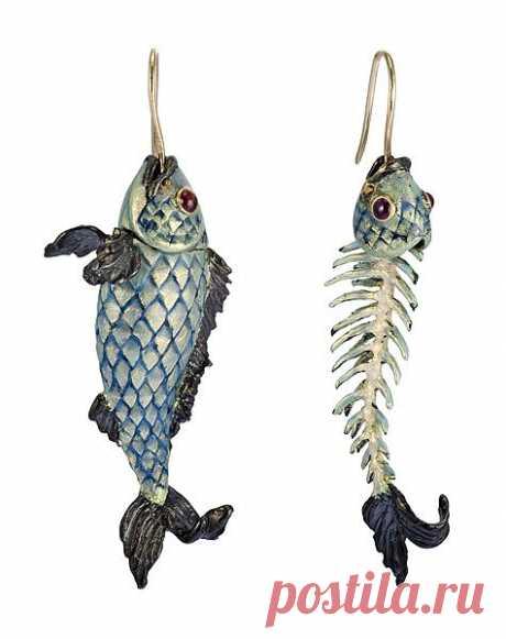 Ювелирные рыбки - серьги Lydia Courteille / Ювелирные украшения / Модный сайт о стильной переделке одежды и интерьера