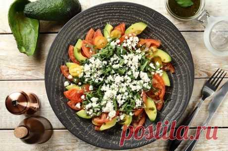 Салат из авокадо с помидорами и зеленью – пошаговый рецепт с фото.