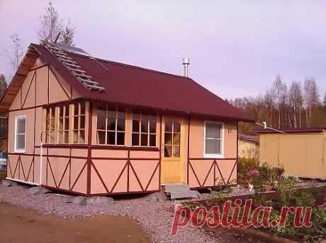 Дачный домик своими руками. Фото