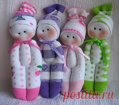 @ Как сделать куклы из носков своими руками – мастер класс | МОЙ МИЛЫЙ ДОМ – идеи рукоделия, вязание, декорирование интерьеров