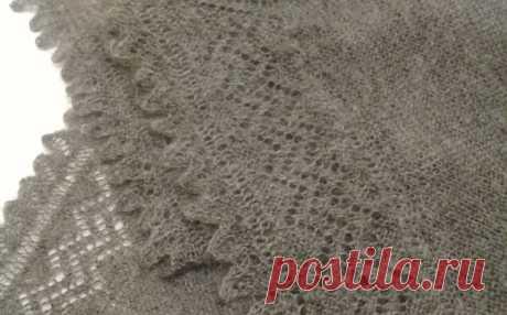 Вяжем пуховую шаль с 4-мя углами и каймой. Вязание шали спицами своими руками. Мастер класс | Вязание. Рукоделие. Мех. МилаФ   | Яндекс Дзен