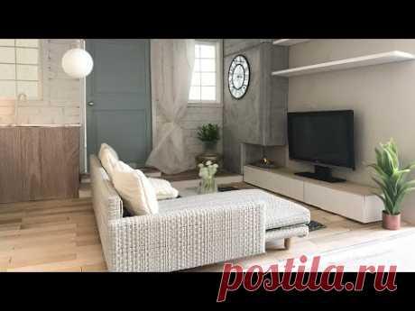 DIY miniature LIVING ROOM (working fireplace)