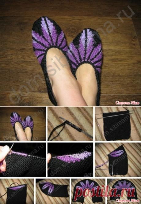 Las zapatillas-sledki de casa - el País de las Mamás
