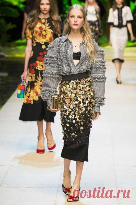 Коллекция Dolce & Gabbana весна-лето 2017 (91 фото)