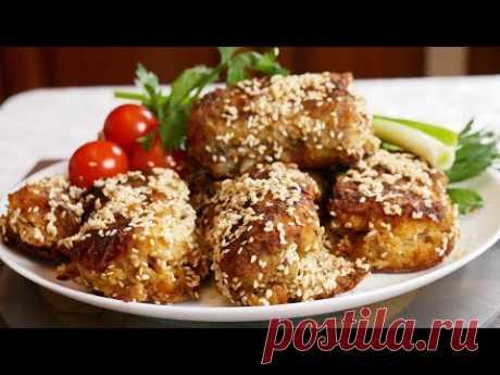 МИНТАЙ в кунжуте к праздничному столу, цыганка готовит. Gipsy cuisine.