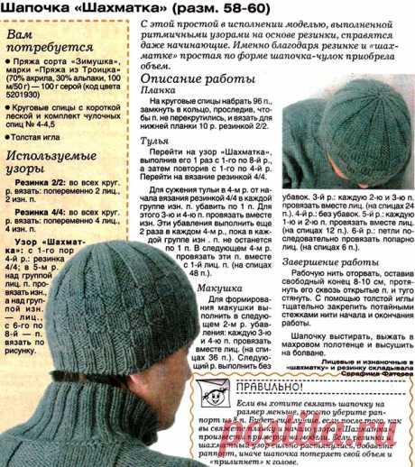 Мужские вязаные шапки спицами и крючком: описание и схема вязания. Как связать модную мужскую шапку спицами двойную, ушанку, с отворотом, «Зигзаг удачи», бини?