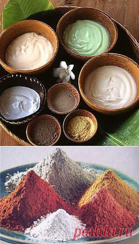 Глина бывает разная - синяя, желтая, красная....))). Каждый вид косметической глины имеет индивидуальные свойства.