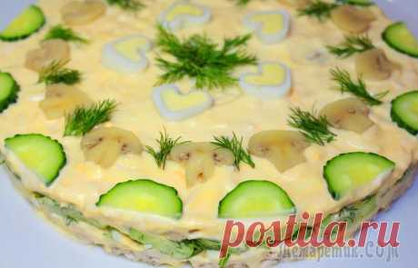 Салат Курочка Ряба. Пошаговый рецепт праздничного блюда