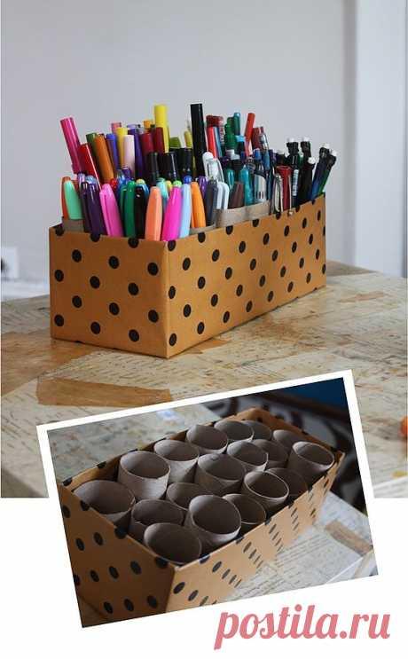 Как удобно хранить карандаши и фломастеры / Детская комната / Модный сайт о стильной переделке одежды и интерьера