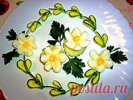 7 LAYFKHAKOV AS IT IS BEAUTIFUL TO CUT SOME EGG! DECORATION OF THE PLATE!